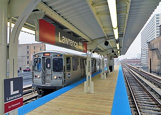 "Lawrence station (CTA) Chicago ""L"" station"