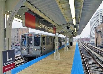 Lawrence station (CTA) - Image: Lawrencectaredline