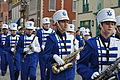 Leavenworth High School Marching band performs in the Leavenworth County Veterans Day Parade.JPG