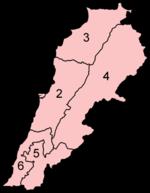 המחוזות של לבנון