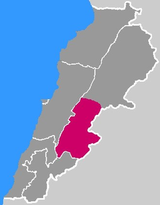 Lebanese wine - Wine producing areas in Lebanon (red)
