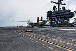 Left rear view of VRC-30 C-2A Greyhound landing on USS John C. Stennis (CVN-74) 161201-N-EN247-089.jpg