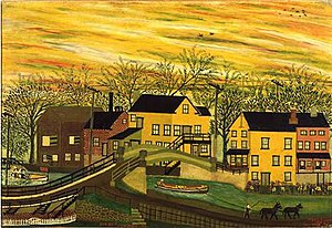 New Hope, Pennsylvania - An early 20th-century painting by Joseph Pickett, a New Hope native