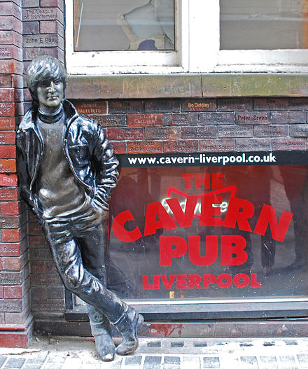 Statue of Lennon outside The Cavern Club, Liverpool Lennon Statue, Liverpool.jpg