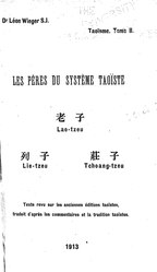 Léon Wieger: Les pères du système taoïste