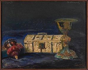 """Kielich biskupa Maciejowskiego, tzw. skrzyneczka królowej Jadwigi i pucharek """"roboty króla Zygmunta III"""""""