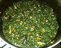 Les feuilles d'amaranthe sautées dans une marmitte (Aux 1000 saveurs de Tayap).jpg