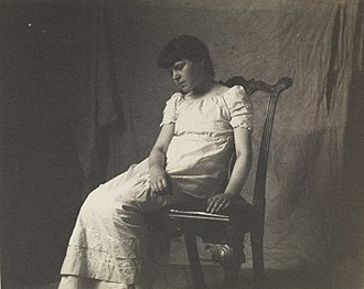 Frances St John Chappelle - Lettie Willoughby sitting in Chippendale chair, by Thomas Eakins