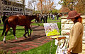"Lexington Kentucky - Keeneland Race Track ""Painting the Paddock"" (2144435613) (2).jpg"