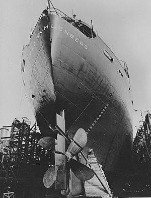 California Shipbuilding Corporation - Construction of a Liberty Ship in California Shipbuilding's yard, June 1943.