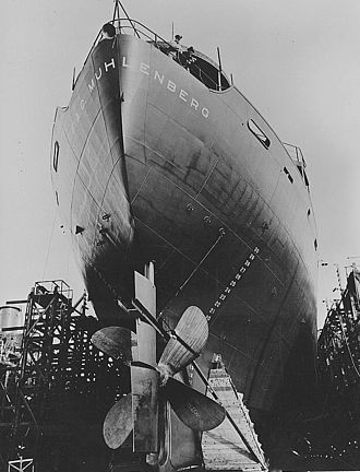 California Shipbuilding Corporation - Construction of a Liberty Ship in California Shipbuilding's yard, June 1943.