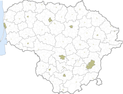 Location map Lietuva