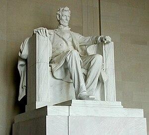 Lincoln statue, Lincoln Memorial.jpg