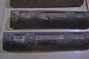 Roman metallurgy - Roman ingots of lead from the mines of Cartagena, Spain, Archaeological Municipal Museum of Cartagena