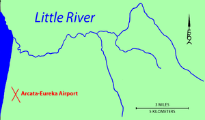 Little River (Humboldt County) - Image: Little River Map