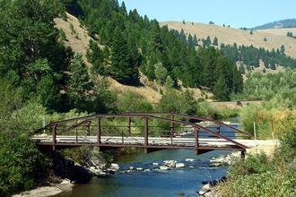 Little Blackfoot River - The Little Blackfoot River Bridge at Avon, Montana.