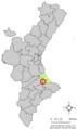 Localització de Llocnou de Sant Jeroni respecte del País Valencià.png