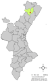 Localització de Vilar de Canes respecte del País Valencià.png
