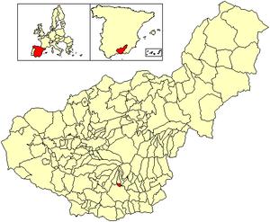 Carataunas - Image: Location Carataunas