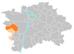 Location map municipal district Prague - Praha 13.PNG