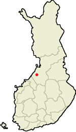 Location of Oulainen in Finland.png