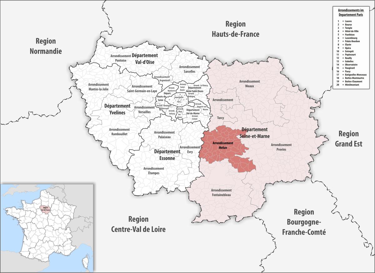 Arrondissement melun wikipedia for Departement melun