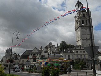 Loches - St. Antoine Tower, and the Château de Loches in the background