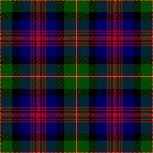 Clan Logan - The Logan and MacLennan tartan first published by James Logan in 1831