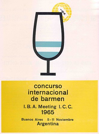 International Bartenders Association - A poster for the IBA meeting of 1965 at the Claridge Hotel, Buenos Aires.