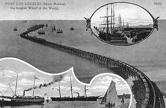 Long Wharf (Santa Monica) - Port Los Angeles Santa Monica 1894