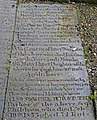 Long tedious years of lingering wasting pain - gravestone in St Peter's churchyard, Leeds(14307319124).jpg