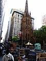Looking Down Broadway Towards Trinity Church, Manhattan, New York (7237040158).jpg