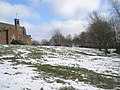 Looking back up Stag Hill towards Guildford Cathedral - geograph.org.uk - 1153999.jpg