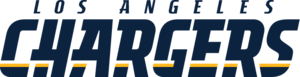 History of the Los Angeles Chargers - The current wordmark logo for the Los Angeles Chargers.