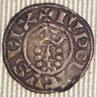 Louis VII of France - Effigy of Louis VII, denier, Bourges