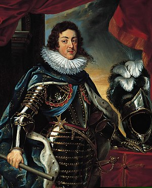 Absolute monarchy in France - Louis XIII in full military regalia by Peter Paul Rubens