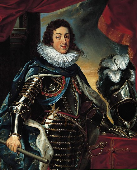 The young Louis XIII was only a figurehead during his early reign; power actually rested with his mother, Marie de' Medici. Louis XIII.jpg