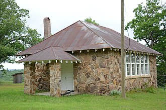 Stone County, Arkansas - Image: Luber School