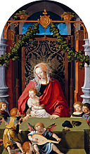 Lucas van Leyden - Virgin and Child with Angels - Gemäldegalerie.jpg