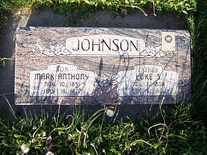 Luke Johnson (Mormon) - Grave marker of Luke Johnson.