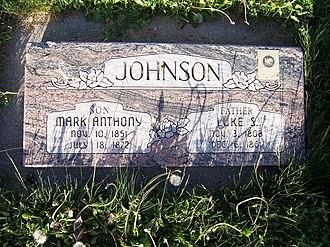 Luke Johnson (Mormon) - Grave marker of Luke Johnson.