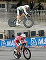 Luke Durbridge and Rasmus Quaade, Men's under-23 road race 2011 UCI Road World Championships.JPG