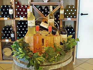 Goult - wine bottles product in Lumières, hamlet of Goult