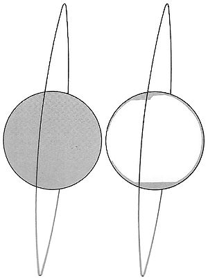 Lunar Orbiter 4 - Spacecraft orbit and photographic coverage on the near side (left) and far side (right)