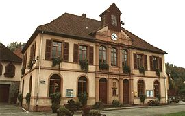 The town hall in Luttenbach