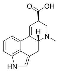 Lysergic acid chemical structure.png