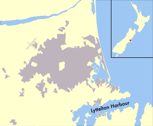 Lyttelton Harbour - Map of Lyttelton Harbour