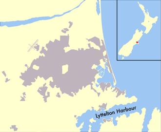 Lyttelton Harbour - Map of Lyttelton Harbour