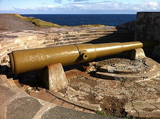 10-inch gun M1895 - Surviving M1888 10-inch gun at Fort Cape Spear, St. John's, Newfoundland.