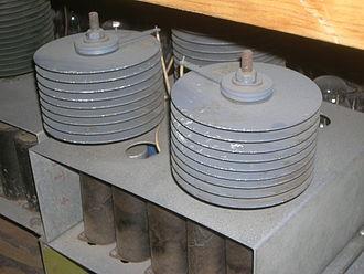 Selenium rectifier - Selenium rectifiers used in 1950s MADDIDA computer